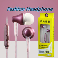 Wholesale Chinese Flavor Wholesale - Fashion 3.5mm Earphones Earphone Cell Phone Earphones Headphone Headphones Earbuds with Mic Perfume flavor For iPhone Samsung Android