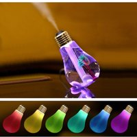 Wholesale Ancient Light Bulb - led light bulb humidifier 7 colour night lights household humidifier usb LED mini air humidifier restoring ancient ways in the home