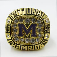 Wholesale New arrival Men fashion sports jewelry University of Michigan championship ring fans souvenir gift