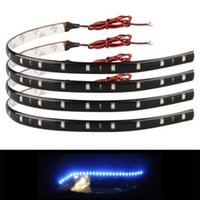 Wholesale Led Automotive Strip - High Quality 4x15 Blue LED 12V 30Cm Waterproof Car Trucks Motor Grill Flexible Light Strips support for home or automotive use CLT_02X