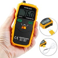 Wholesale Data Log - Digital Multimeter Thermometer Professional LCD Display Wireless K Type Temperature Meter Thermocouple W  Data Hold Logging +NB