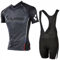 Wholesale Team Cube Cycling Jerseys - CUBE Pro Team Ropa Ciclismo Cycling Jersey Set MTB Bike Clothes Man Sportwear Bicycle Clothing Bicicleta F1319