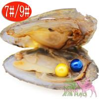 ingrosso gemelli partito-Love pearl party regalo stupefacente sottovuoto rotondo rotondo 6-7 mm rotondo gemelli perla d'acqua dolce coltivata ostrica Akoya