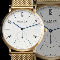 Wholesale Thin Brown Watch - Reloj Hombre 2017 Top Luxury Famous Brand NOMOS Men Watch Ultra Thin Fashion Quartz Watch Men Sports Casual Watches Clock Male wristwatches