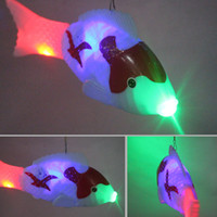Wholesale wood fishing toys resale online - Electric light fish painting with music light source electric fish stall