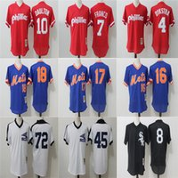 Wholesale New arrival Hole cloth MLB Jerseys Philadelphia Phillies New York Mets Chicago White Sox Batting Practice Baseball Jerseys