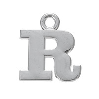 Wholesale Wholesale Make P - Metal Zinc Alloy Rhodium Plated Alphabet Letter P & R & S & T Zinc Alloy Charms Letter Charms for DIY Jewelry Making 100Pcs lot