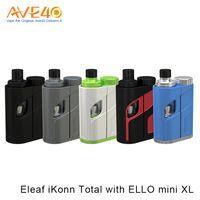 Wholesale Sliding Kits - Authentic Eleaf iKonn Total Kit with 5.5ml Ello Mini XL New Design of Sliding Cover HW Series Coils
