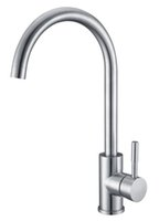 Wholesale High Quality brush finish sus304 Stainless Steel mixer Kitchen Faucet