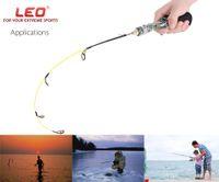 Wholesale ice fishing rods - LEO Professional Gun Type Ice Fish Pole Fishing Rod Compound Fiber EVA handle 50 60cm Length Lightweight Automatic Fishing Rod HOT +B