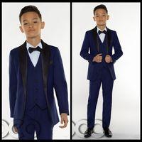 Wholesale Peak Model - 2018 Cheap Boys Tuxedo Boys Dinner Suits Boys Formal Suits Tuxedo for Kids Tuxedo