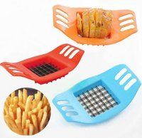 Wholesale Vegetable Choppers Shredders - 2017 Stainless Steel Vegetable Potato Slicer Cutter Chopper Chips Making Tool Potato Cutting Fries Tool Kitchen Accessories