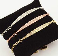 york platten großhandel-New York Fashion Brand Hohe Qualität Willow Leaf Kristall Charme Armbänder 925 Silber vergoldet Kette Armreifen Modeschmuck für Frauen Mädchen