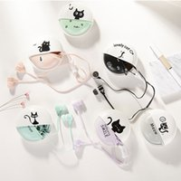 Wholesale Cute Girly - For Apple IPhone 6 5 5C 5S 6S 6Plus Cute Cat 3.5mm Headset with Retail Package 1.2M Girly In-ear Headphones by Free Shipping MY001