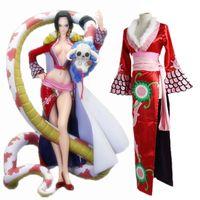 Wholesale One Piece Cheongsam - Boa Hancock cosplay costumes cheongsam Japanese anime ONE PIECE clothing Halloween Masquerade Mardi Gras Carnival costumes