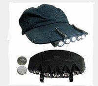 5 Leds Cap Hat Light Clip-On 5 LED Fishing Camping Head Light HeadLamp Cap