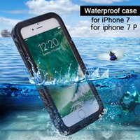 Wholesale Ipx8 Waterproof Case - IPX8 Waterproof case for iphone 7 7plus 4.7 TPU Rubber Full body Shock-proof Underwater Diving swimming with retail package free shipping