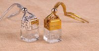 Wholesale Hot Selling Car Accessories - Hot Selling UK 200pcs  lot 6ml Hanging Car Perfume Bottles Car Pendant Accessories Bottle Empty Glass MIni Bottle DHL Free Shipping