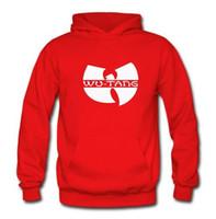 Wholesale Tang Coat - 2017 Fleece Casual Unisex Hoodies Sweatshirt wu-tang Print Sport Bodybuilding Hip-hop Pullover Hooded Mens Sportwear Coat Jogger