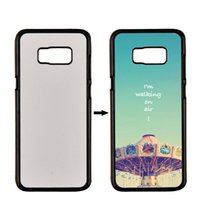 PC Sublimation Fall Für Samsung Galaxy S7 S7 S6 rand Plus S5 S4 Mini Abdeckung 2D Sublimation Fall Mit Blank Metallplatte