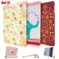 Wholesale Cheap Leather Ipad Air Cases - Wholesale-2016 Newest Cheap Ultra-thin Cute Painted PU Leather Flip Smart Case For iPad Air With Sleep & Wake up Funda Capa Cover