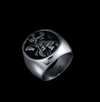 Wholesale Monkey Rings Jewelry - Wholesales 2016 Fashion Cartoon Monkey Mother and son Ring Stainless Steel Jewelry Accessories For Women Wedding Ring