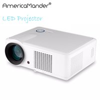 Wholesale data show - Wholesale-200inch Brightest 2000Lumen Full HD DLP Business Advertising Education data show 3D Projector Beamer Projektor Proyector