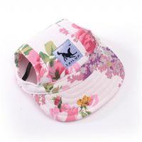 yaz köpek şapkaları toptan satış-Köpek Şapka ile Kulak Delik Yaz Tuval Beyzbol şapkası İçin Küçük Hayvan Köpek Açık Aksesuarları Yürüyüş Hayvan Ürünleri -10 Stiller