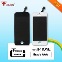 Wholesale Iphone Screen Dust - Grade A+++ for iPhone 5 5C 5S LCD Display & Touch Screen Digitizer Full Assembly with Earpiece Anti-Dust Mesh Free Installed
