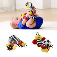Wholesale Garden Bug Socks - NEW lamaze sock baby rattle baby toys Lamaze Garden Bug Wrist Rattle and Foot Socks Bee Plush toy toddler Infant toys JC98