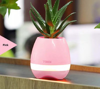 Wholesale Smart Led Night Light Touch - Creative Bluetooth Smart Music flowerpot Speaker K3 Intelligent Touch Plant Piano Music Flower Pot with colorful LED Night Light