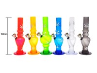 Wholesale Hookah Shisha Tobacco - 1 X Acrylic Tobacco Bongs Smoking Twist Bubble WaterPipe Shisha Hookah Bongs For Arabia Hookah Mix color and Design
