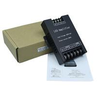controladores repetidores al por mayor-El controlador de amplificador RGB llevado entró 5V / 12V / 24V 30A Repetidor de señal 360W para 3528/5050 RGB Led tira