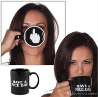 Wholesale Coffee Novelties Gifts Wholesale - Creative Have a Nice Day Coffee Mug Middle Finger Funny Cup for Coffee Milk Tea Cups Novelty Gifts 10oz mugs
