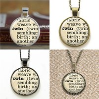 Wholesale art definition online - 10pcs dictionary Twin Sister Definition Sister glass Art Pendant glass Necklace keyring bookmark cufflink earring bracelet