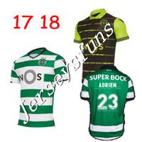 Wholesale Soccer Jersey Portugal - 2017 2018 Sporting Clube de Portugal Lisbon Futbol Camisa Lisboa Dost Martins Soccer Jersey 17 18 Football Camisetas Shirt