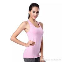 Wholesale fasting exercise - Female fast - drying exercise vest fitness high - elastic yoga running gymnastics
