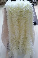 100Pcs / lot 1M longo Cordas brancas artificiais das orquídeas do cattleya que wedding suportes florais de seda do casamento do arranjo floral