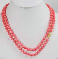 """Wholesale Pink Gemstone Beads Free Shipping - free shipping >>>>>Beautifully Japan Pink Coral 34"""" Round Beads Gemstones Necklace AAA Grade"""