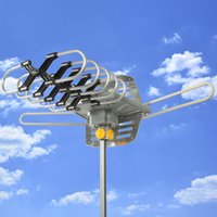 Wholesale HDTV Motorized Remote Outdoor Amplified Antenna UHF VHF FM HD TV Miles