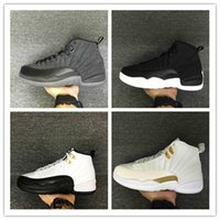 Wholesale Retro Low Flats Shoes - 2017 Mens and Women Air Retro 12 Low Playoffs Basketball Shoes for Men Sneakers US7-US13 Athletics Shoes