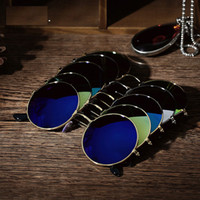Wholesale Sport Fashin - Vintage Polarized Sunglasses Fashin Men And Women Round Mirrored Sunglasses Eyewear Casual Driver Outdoor Sports Glasses