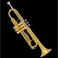 Wholesale Trumpet Jbtr - Wholesale- Free Shipping New Jinbao JBTR-300 professional trumpet great sound metal techn Gold Lacquer