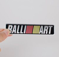 Wholesale Car Sticker For Mitsubishi - High Quality Aluminum alloy Sticker Car Motorsport Sticker Label Emblem Badge car styling for Mitsubishi MOTORS RALLIART [120x26mm, 35x34mm]
