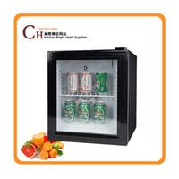 Wholesale Mini Display Refrigerator - Glass Door Bar Fridge 48L,glass door mini refrigerator,display refrigerator,refrigerator door
