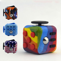 Wholesale Toy Materials - Fidget Cubes Desk Spin Magic Cubes Stress Relief Toys Gifts For Boys Girls ABS Material Puzzle Cube Toys