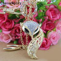 Wholesale Rhinestone Stretch Belt - Wholesale- ChenaWolry 1PC 2016 Selling Luxury Attractive Cute Charming Women Little Fox Stretch Rhinestone Gold Waist Chain Belt O 21