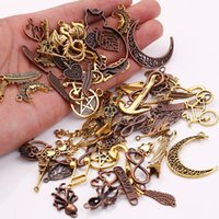 Wholesale Metal Craft Charms - Wholesale- Metal Mixed Charms for Jewelry Making DIY Handmade Crafts Vintage Pendant Charms 100pcs lot C5089