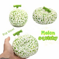 10PCS / lot Jumbo Hami Melon Squishy Slow Rising Retail Package Phone Straps encantos Fruit Scented Pendente Pendente Kid Toy Gift