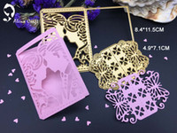 Wholesale Butterfly Die Cuts - METAL CUTTING DIES 2pc wedding lover bride butterfly Scrapbook card invitation paper craft party decor embossing stencil cutter